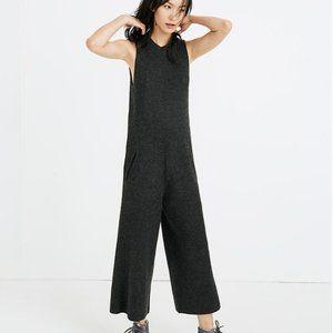 Madewell Wide Leg Sweater Jumpsuit - XS, Dark Grey